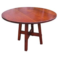 Superb Antique L&jG Stickley Round Table  w5389