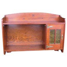 Superb Antique Arts & Crafts Wall Cabinet/ Shelf w5394
