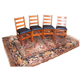 Superb Antique Set of 4 L&jG Stickley Side Chairs  w5401