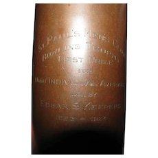 Superb Antique Heintz Bronze Vase/ Bowling Trophy with Sterling Silver Overlay w5442