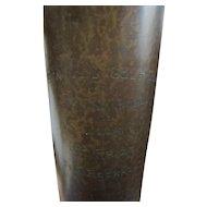 Superb Antique Heintz Bronze Vase/ Golf Trophy with Sterling Silver Overlay w5443