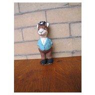 Vintage German Rabbit Paper Mache Figurine (Candy Holder)  w5478