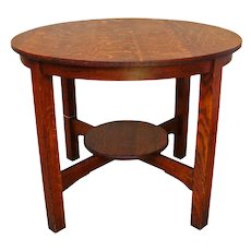 Antique Arts & Crafts Lamp Table  w93