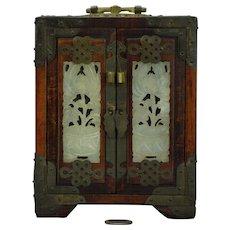 Chinese Huanghuali Wood  Jewelry Box Chest