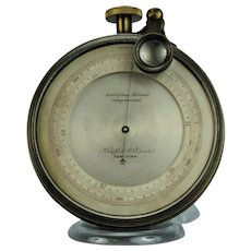Keuffel & Esser Compensated Surveying Aneroid Altitude Barometer with Ascent and Magnifier