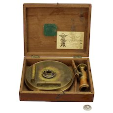 """A Lietz and Company 6"""" Diameter Surveyors Compass with Adapter"""