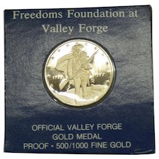 500/1000 Gold Valley Forge Commemorative Coin