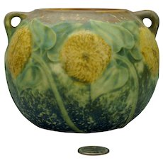 Roseville Sunflower Vase