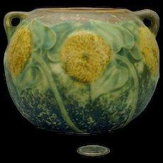 Roseville Sunflower Vase