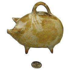 Mexican Tlaquepaque Pottery Piggy Pig Bank