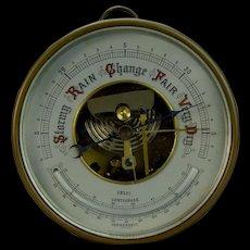 Prewar German Aneroid Barometer Thermometer Combination