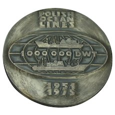 1951 1975 Polish Ship Lines Medallion