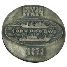 1951 1975 Polish Ship Lines Medallion