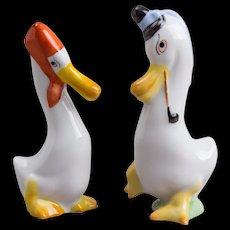 Pair of Herend Mr and Mrs Duck Figurine