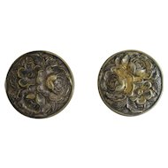 Sterling Gold Wash With Flowers Earrings