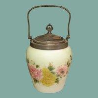 Beautiful Antique cracker / Bisquit jar