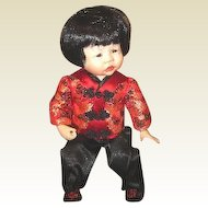 Charming artist made  bisque Asian doll