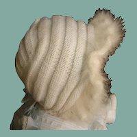 Angelic angora Doll hat