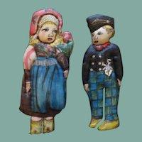 Wonderful original rendition of Lenci dolls one of a kind
