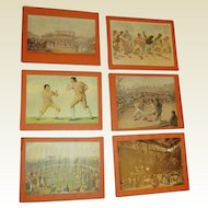 Vintage set of Boxer prints