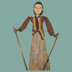 Beautiful wooden puppet