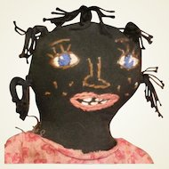 Wonderful folk art black doll