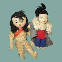 Adorable Asian cloth Dolls