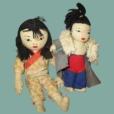 Adorable Asian cloth Dolls