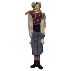 Amazing Akira Blount cloth sculpted Art doll One of a kind