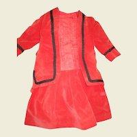 Dress and jacket velvet and satin