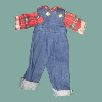 Adorable doll overalls