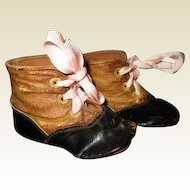 Great antique two toned leather shoes