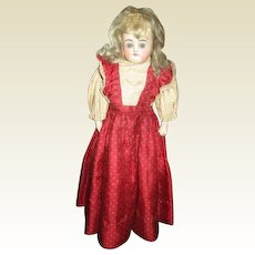 Gorgeous original closed mouth bisque doll
