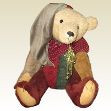 Adorable artist made jointed bear