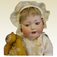 Captivating large bisque character baby 176