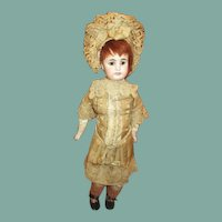 Original swivel head French market antique bisque doll beauty