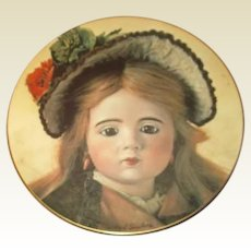 Plate of rarest Marque doll