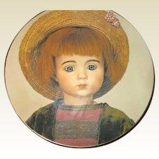 Plate of rarest Marque boy doll
