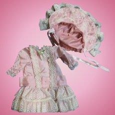 Beautiful drop waist dress and hat