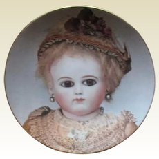 French Bebe Schmitt doll plate