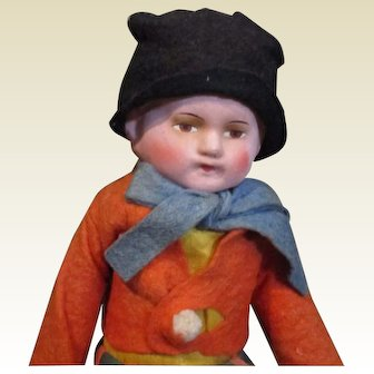 Great vintage boy doll made in Germany