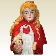 Charming antique Kestner 164 Red riding hood