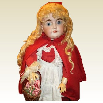 Charming antique Kestner 164 Red riding hood