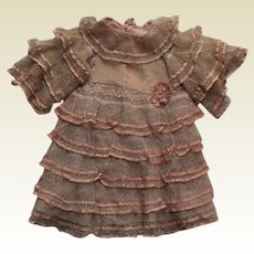 Stunning Large French  netted  lace dress with  rosette