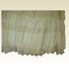 Gorgeous antique crochet womens slip for dress making