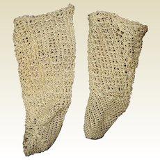 Beautiful Antique  crochet socks