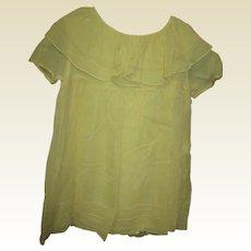 Beautiful large dress soft yellow crepe