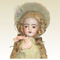 Stunning French S.F.B.j flirty eyed antique bisque doll