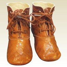 Adorable Antique large doll shoes