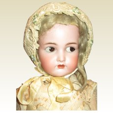 Beautiful old large doll hat